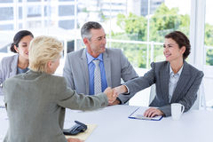 Interview panel listening to applicant Stock Images