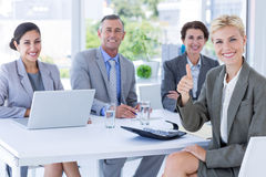 Interview panel listening to applicant Royalty Free Stock Photography