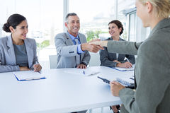 Interview panel listening to applicant Royalty Free Stock Image