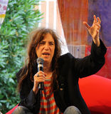 Interview with Patti Smith. At Collisioni Festival July 14th 2012 - Barolo - Italy Royalty Free Stock Photography