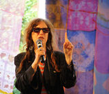 Interview with Patti Smith. At Collisioni Festival July 14th 2012 - Barolo - Italy Stock Photo