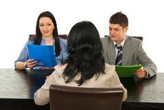 Interview people Royalty Free Stock Images