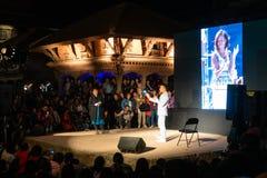 Interview Prabal Gurung an Foto-Kathmandu-Festival 2018, in Pat stockfoto