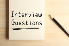 Interview Questions Stock Images