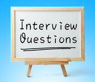 Interview Questions Royalty Free Stock Photography