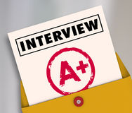 Interview Report Card Grade Answer Questions Get Job Hired Stock Image