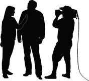 Interview silhouette  Royalty Free Stock Photography