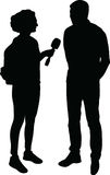 Interview silhouette vector Royalty Free Stock Photos