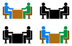 Interview. Simple illustration of interview concept Stock Image