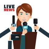 Interview to person on podium Stock Photography
