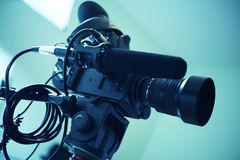 Interview Video Camera Setup Royalty Free Stock Image
