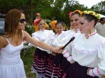 Interviewen der Tänzer Lizenzfreies Stockfoto