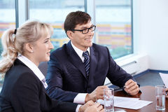 Interviewing Stock Image
