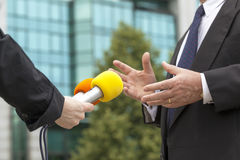 Interviewing businessman Stock Image