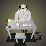 Interviewing for a job stock illustration