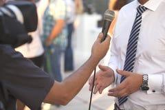 Intervista con un uomo d'affari Fotografie Stock Libere da Diritti