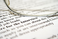 Intervista di assunzione Immagine Stock Libera da Diritti