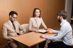 Intervista di assunzione di lavoro Immagini Stock