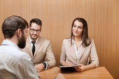 Intervista di assunzione di lavoro Fotografie Stock