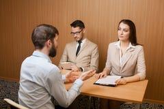 Intervista di assunzione di lavoro Immagine Stock Libera da Diritti