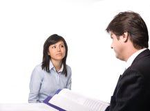 Intervista di job Immagine Stock