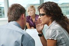 Intervista di job Immagini Stock