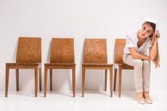 Intervista di lavoro aspettante Fotografia Stock