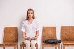 Intervista di lavoro aspettante Immagine Stock
