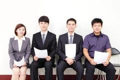 Intervista di lavoro aspettante della gente Immagine Stock Libera da Diritti