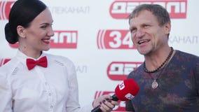 Intervju Oleg Skripka stock video