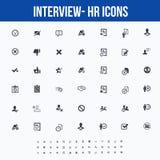 Intervju-/personalresurssymboler för rengöringsduken/mobilskärmar - del 2 Royaltyfri Fotografi