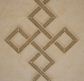 Interweaving Square Patterns on ceiling Royalty Free Stock Images