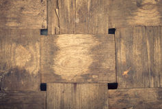 Interweaving veneer old antique basket Royalty Free Stock Photography