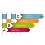 Interwoven design infographic template Stock Image