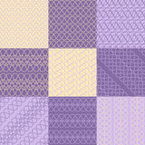 Interwoven lines patterns Royalty Free Stock Image