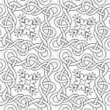 Interwoven lines seamless pattern Stock Photo