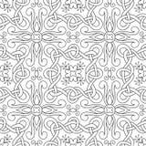 Interwoven lines seamless pattern Stock Photography