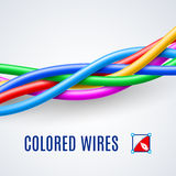Interwoven plastic wires Stock Photo