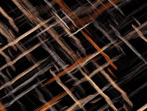 Interwoven stripes - abstract digitally generated image. Fractal background or texture with chaos interwoven threads like mat or fabric. Abstract computer Vector Illustration