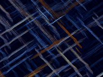 Interwoven stripes - abstract digitally generated image. Fractal background or texture with chaos interwoven threads like mat or fabric. Abstract computer Royalty Free Illustration