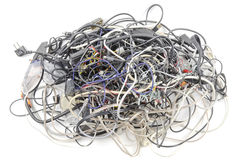 Interwoven tangle of wires Stock Photography