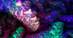 Interwoven. Think interwoven threads that are made up of even smaller threads royalty free illustration