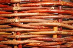 Interwoven twigs as background Royalty Free Stock Photos