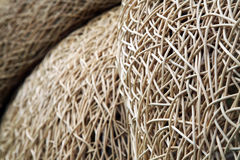 Interwoven wicker material. In abstract shapes Royalty Free Stock Images