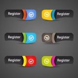 Intestazione astratta moderna dell'icona del registro. Immagini Stock