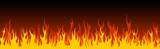 Intestazione/bandiera di Web del fuoco Fotografia Stock