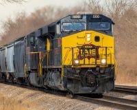 Intestazione da uno stato all'altro dello Iowa la doppia tira il trasporto Fotografie Stock