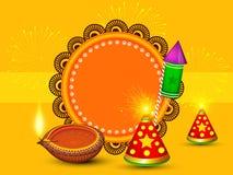 Intestazione 2018 del sito Web di vettore dell'illustrazione di Diwali illustrazione vettoriale