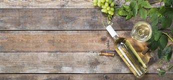 Intestazione del vino bianco Fotografia Stock