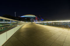 Intestazione della passerella della città di Adelaide verso l'ovale Fotografie Stock
